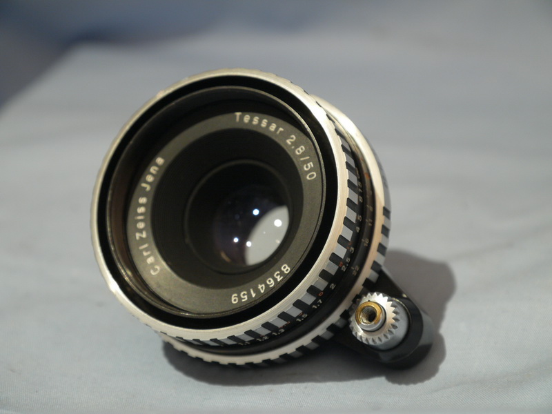 CARL ZEISS Exakta Fit Carl Zeiss Tessar ZEBRA F2.8 50mm ...