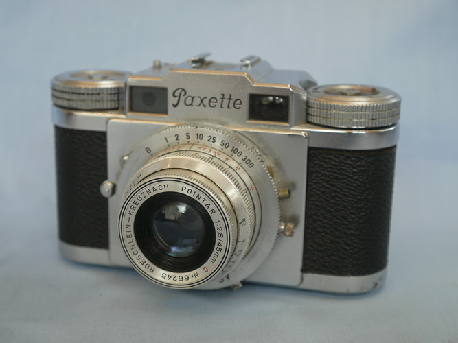 braun paxette rangefinder vintage camera pointar lens. Black Bedroom Furniture Sets. Home Design Ideas