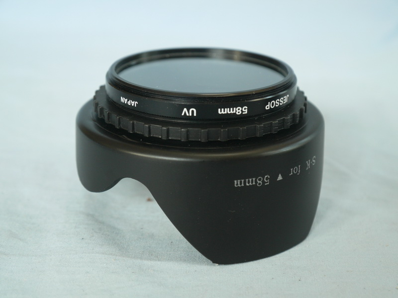 58mm WIDE Scalloped Wide Angle Lens Hood UV Filter 399