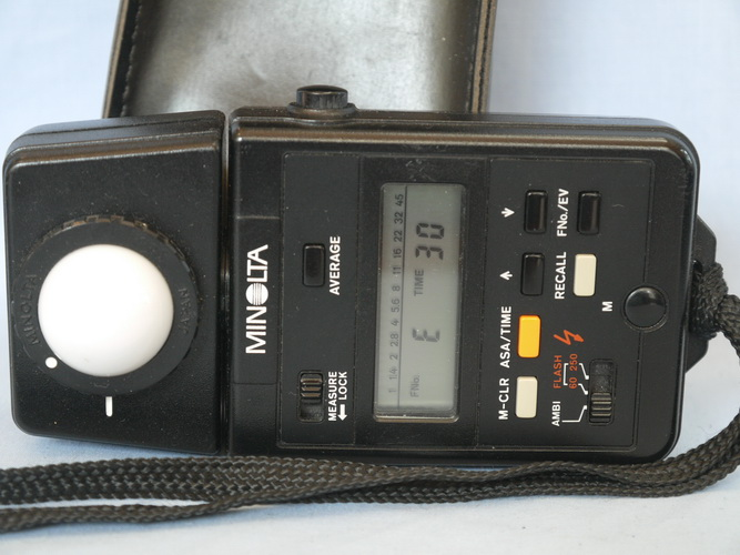 Digital Minolta Auto Meter Iiif Light Meter Cased 59 99