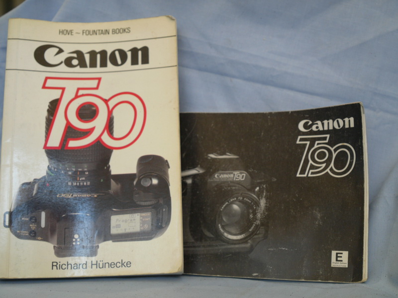 * T90 * Canon T90 -ACTUAL MAKERS- Instructions Manual + Hove Manual £4 49
